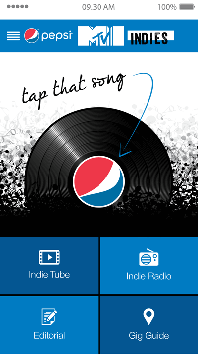 screen capture of Pepsi app