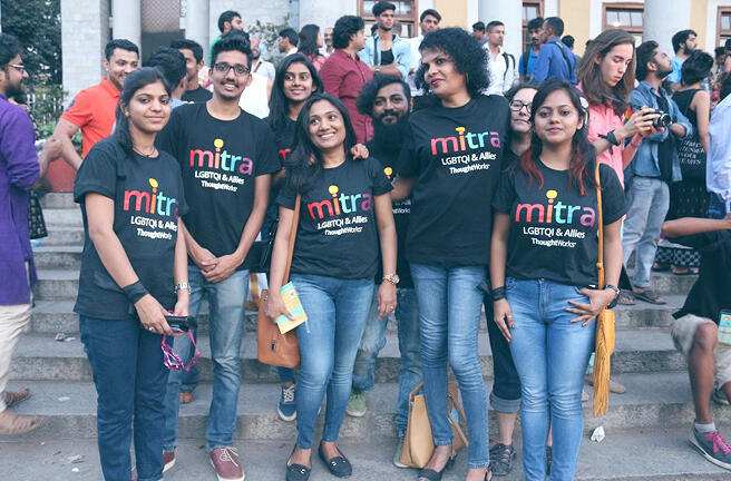 MITRA team photo, ready for a march
