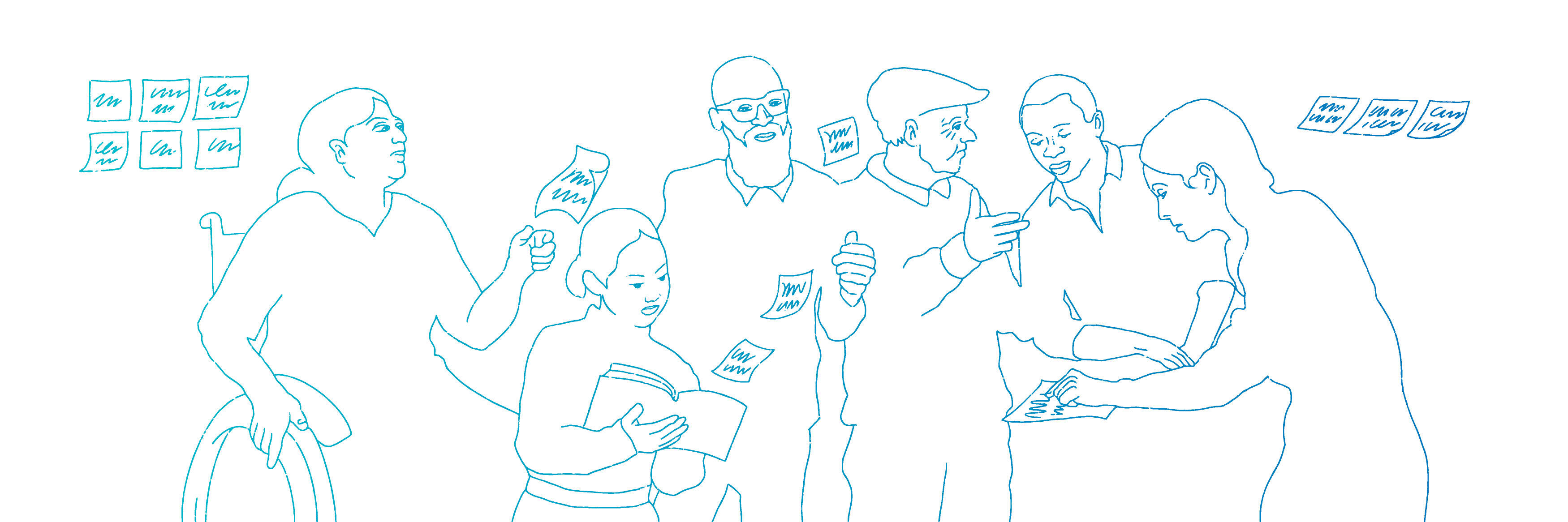 Illustration showing those who don't have access to digital systems trying to get healthcare services in person