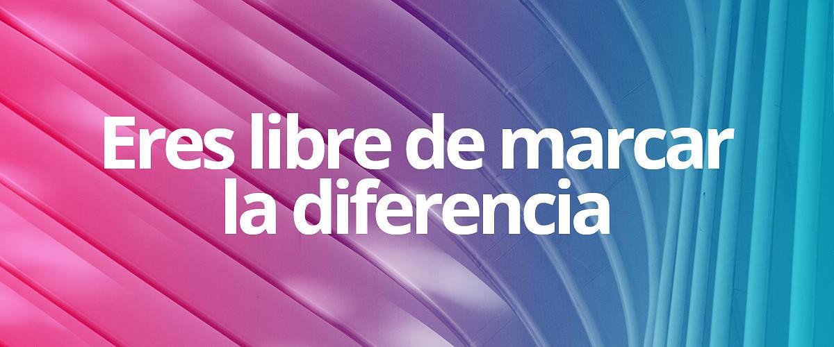 Eres libre de hacer la diferencia