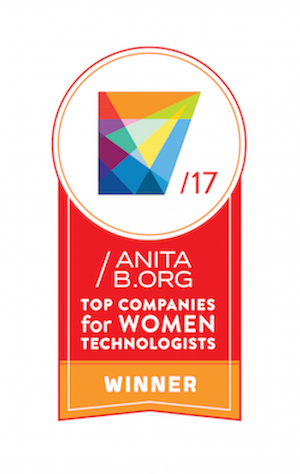 2017 Winner of the Top Companies for Women Technologists for the second consecutive year.
