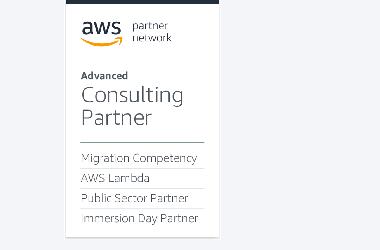 AWS Advanced Consulting Partner. Migration Competency. AWS Lambda. Immersion Day Partner.