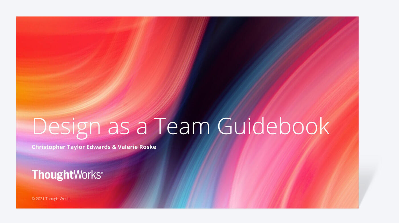 Design as a Team Guidebook cover photo