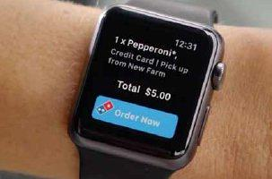 Domino's order on apple watch
