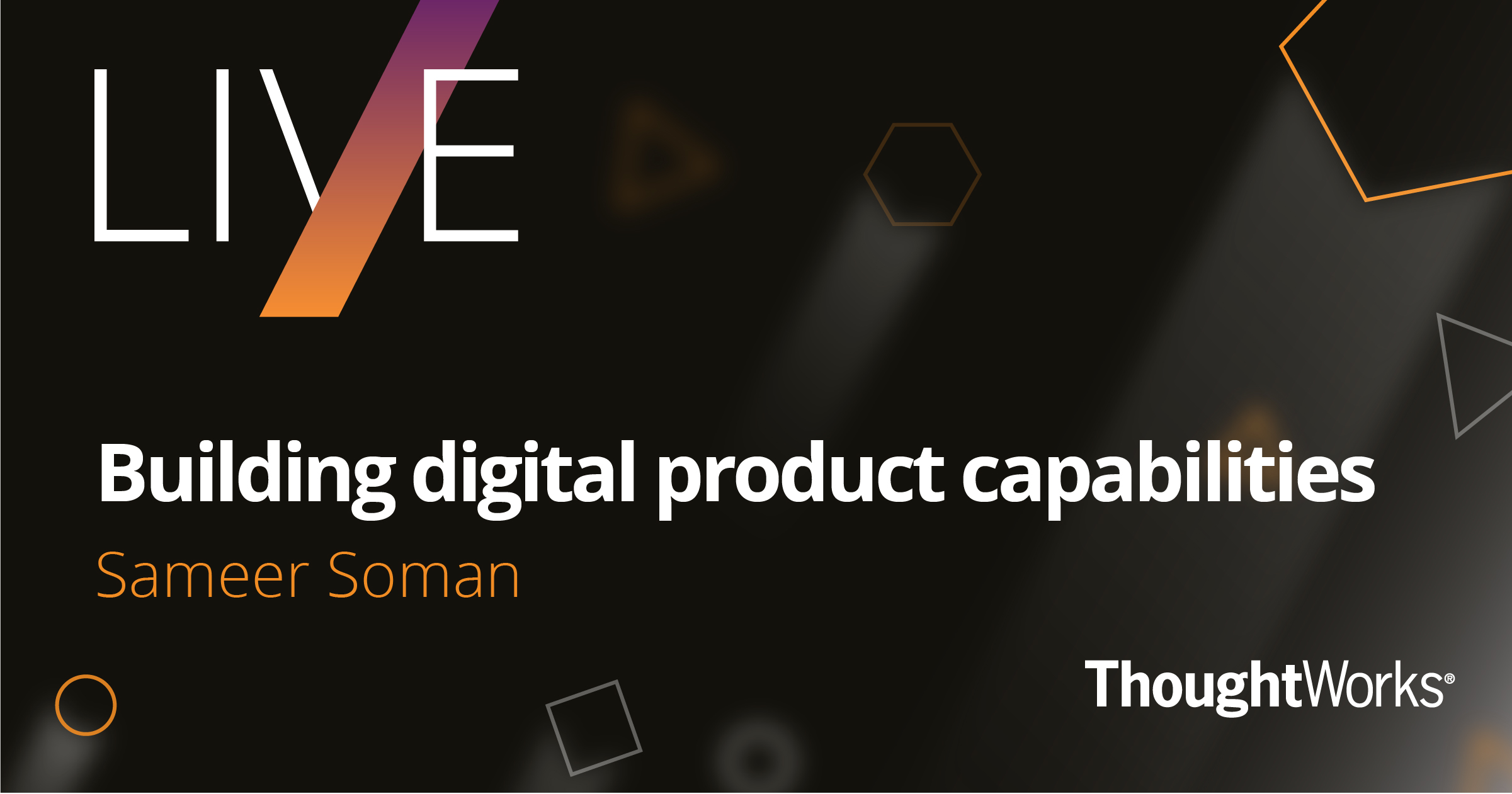 Building Digital Products