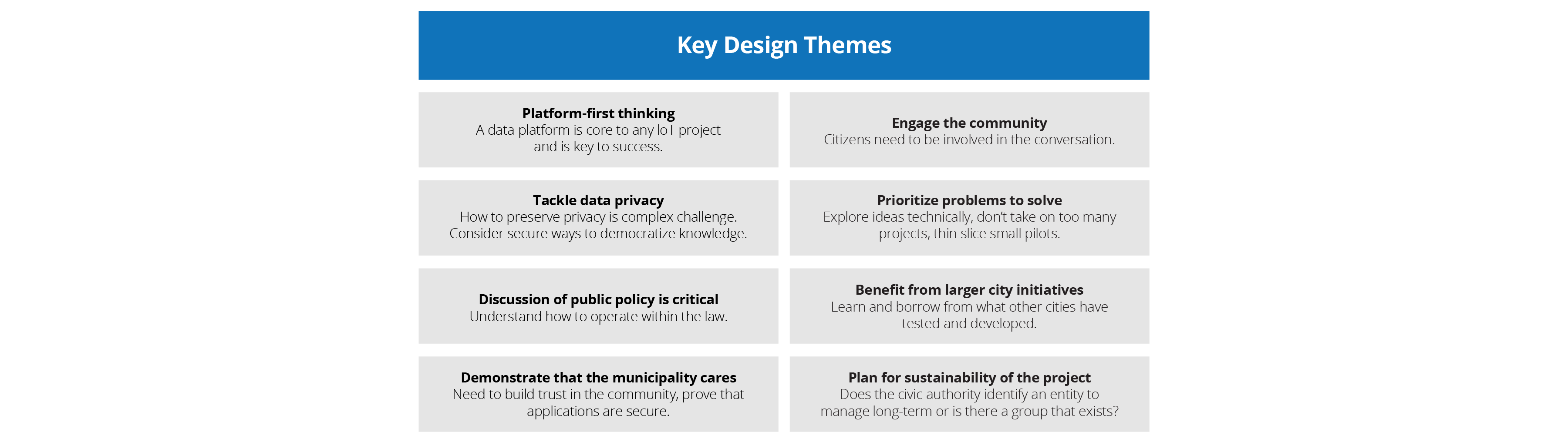 Key design themes