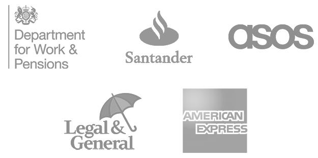 Department of Work & Pensions, Santander, ASOS, Legal and General, American Express