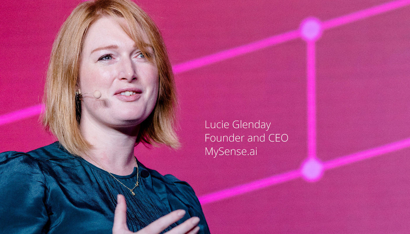 Lucie Glenday CEO of Mysense.ai talks about artificial intelligence technology at ThoughtWorks executive conference ParadigmShift.