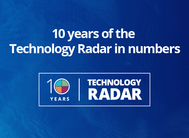 10 years of the Technology Radar in numbers