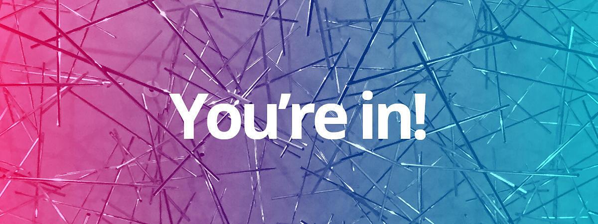 Du bist dabei!