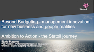 超越预算——给新一代企业业务和管理者的敏捷模式