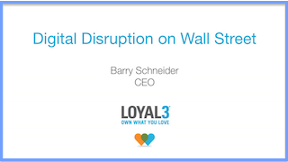 Digital Disruption on Wall Street