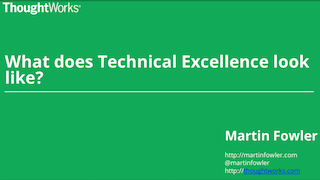What Does Technical Excellence Look Like?